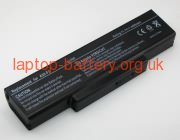 11.10 V, 4400 mAh batteries for CLEVO A4000