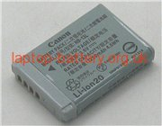 3.6 V, 1250 mAh batteries for CANON PowerShot G7X Mark II